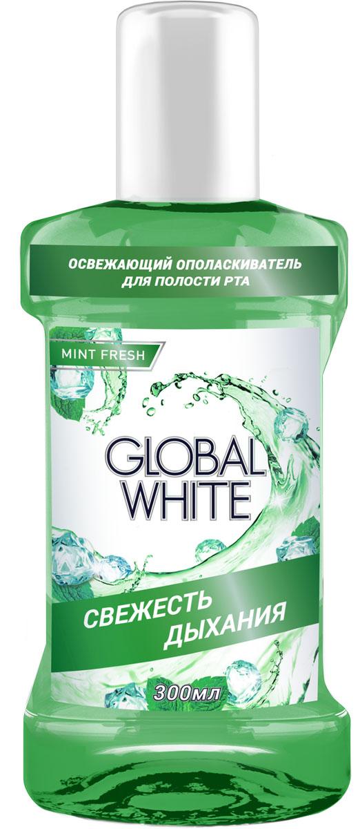 Global White Освежающий ополаскиватель Фреш 300 млDB4010(DB4.510)_самолетОполаскиватель выполняет сразу несколько функций: освежает дыхание надолго, предотвращает кариес, очищает труднодоступные участки и комплексный уход за полостью рта