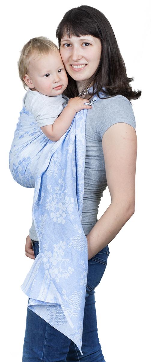 Чудо-Чадо Слинг с кольцами Герба цвет голубой