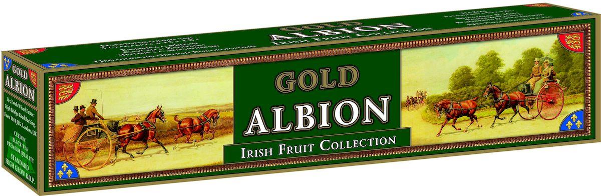 Золотой Альбион Ирландская фруктовая коллекция черный чай в пакетиках, 45 шт101246Цейлонский, черный, пакетированный чай с ароматами: ежевики и мяты, саусепа и ванили, черники и земляники.В упаковке 45 чайных пакетиков. Вес чайного пакетика - 1,8 грамма.