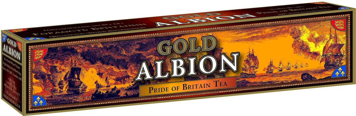 Золотой Альбион Гордость Британии черный чай в пакетиках, 45 шт0120710Чай Золотой Альбион Гордость Британии - это 100% черный байховый листовой цейлонский чай.