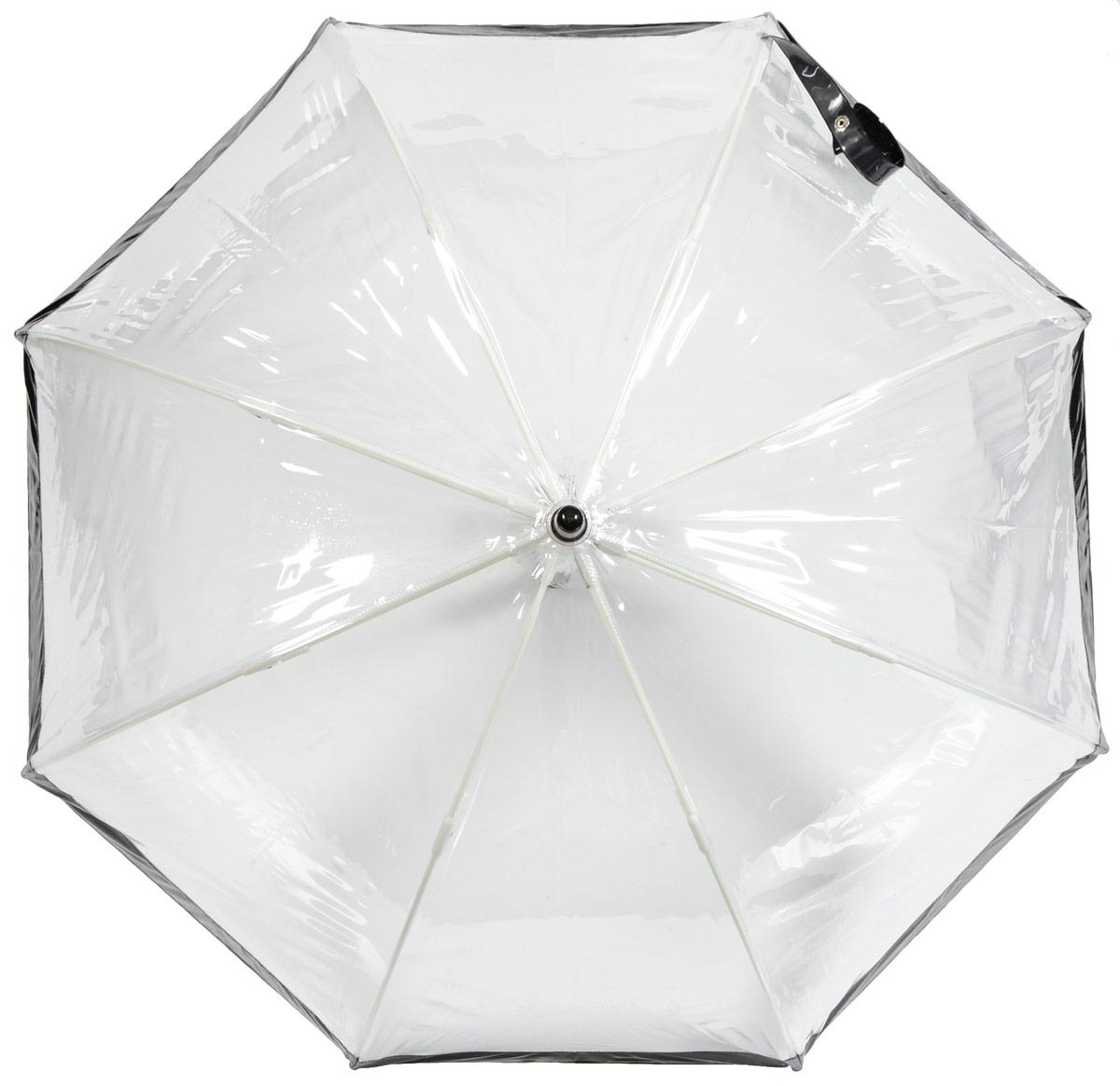 Зонт детский Fulton, расцветка: черный. C603-01 BlackREM12-CAM-GREENBLACKСимпатичный прозрачный зонтик в форме купола с цветной полоской обязательно понравится Вашему ребенку!Специальная безопасная и надежная технология открывания и закрывания.Модная форма купола.Зонт отлично защищает от дождя, и при этом он абсолютно прозрачен.Прочный ветроустойчивый каркас из фибергласса.Длина в сложенном виде 68,5 см, диаметр купола 65 см