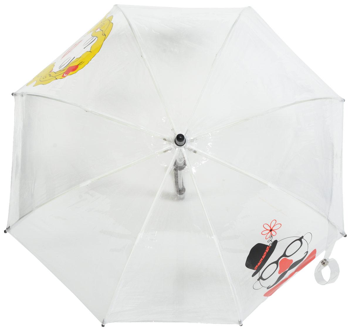 Зонт-трость детский Fulton, механический, цвет: белый, мультиколор. C605-286845100636-1/18466/4900NУдобный механический зонт-трость Fulton даже в ненастную погоду позволит вашему ребенку оставаться стильным. Каркас зонта включает 8 спиц из фибергласса. Стержень изготовлен из прочного алюминия. Купол зонта выполнен из качественного ПВХ.Рукоятка закругленной формы, разработанная с учетом требований эргономики, выполнена из качественного пластика.Зонт механического сложения: купол открывается и закрывается вручную до характерного щелчка.