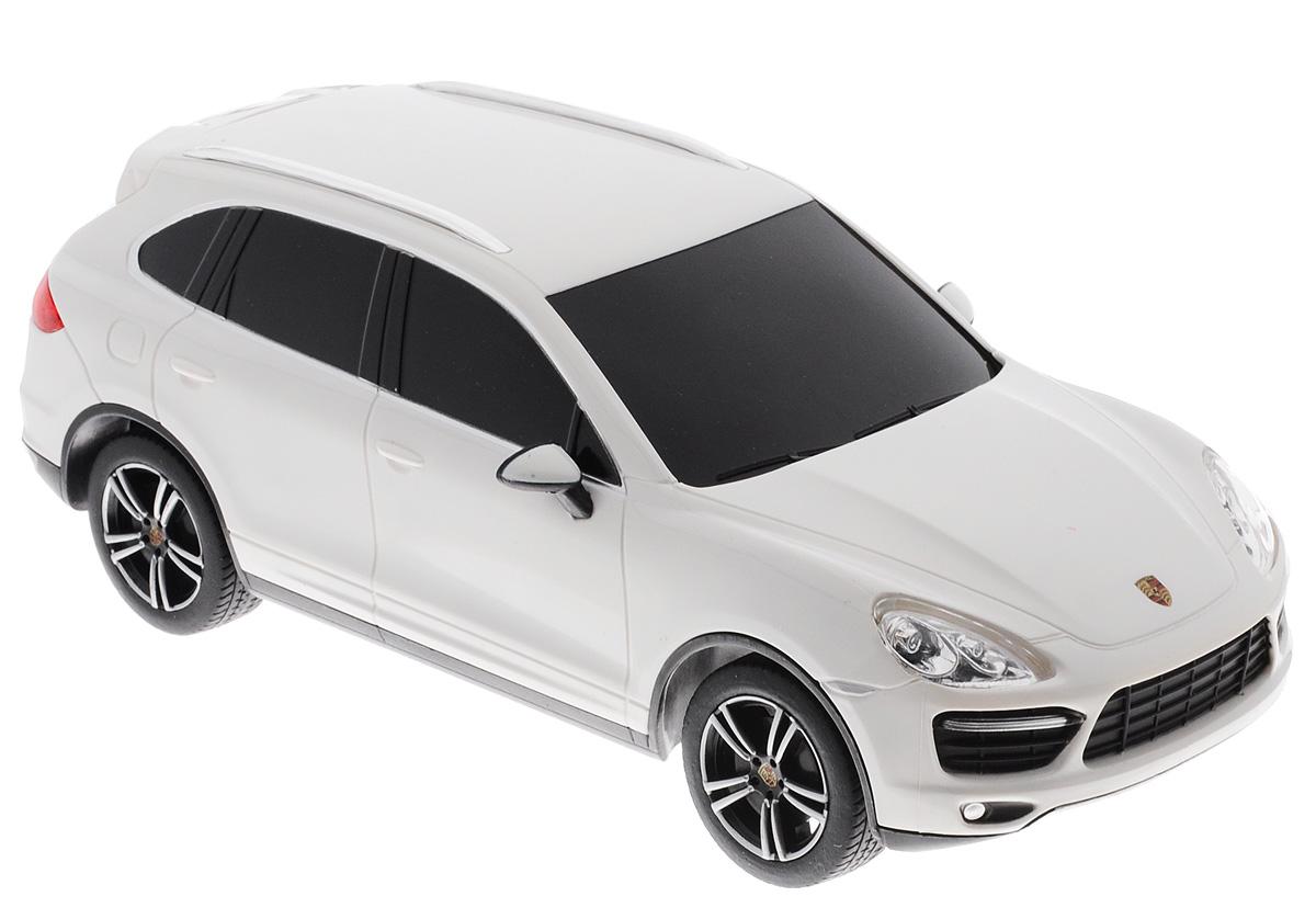 """Радиоуправляемая модель Rastar """"Porsche Cayenne Turbo"""" является точной копией настоящего автомобиля в масштабе 1/24. Управление автомобилем происходит с помощью удобного пульта. Машина двигается вперед и назад, поворачивает направо, налево и останавливается. Колеса игрушки прорезинены и обеспечивают плавный ход, машинка не портит напольное покрытие. Пульт управления работает на частоте 27 MHz. Радиоуправляемые игрушки способствуют развитию координации движений, моторики и ловкости. Ваш ребенок часами будет играть с моделью, придумывая различные истории и устраивая соревнования. Порадуйте его таким замечательным подарком! Машина работает от 3 батареек напряжением 1,5V типа АА (не входят в комплект). Пульт управления работает от 2 батареек напряжением 1,5V типа АА (не входит в комплект)."""