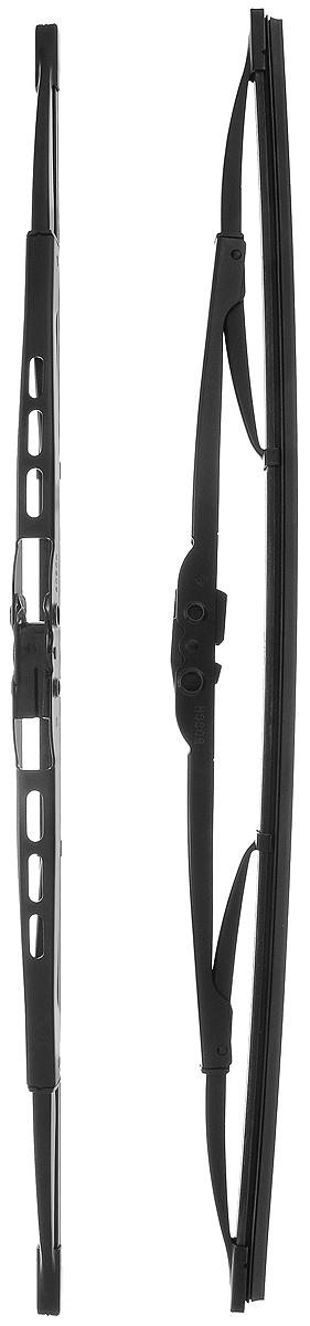 Щетка стеклоочистителя Bosch 450, каркасная, длина 45 см, 2 штS03301004Щетка Bosch 450, выполненная по современной технологии из высококачественных материалов, оптимально подходит для замены оригинальных щеток, установленных на конвейере. Обеспечивает идеальную очистку стекла в любую погоду.TWIN - серия классических каркасных щеток от компании Bosch. Эти щетки имеют полностью металлический каркас с двойной защитой от коррозии и сверхточный профиль резинового элемента с двумя чистящими кромками.Комплектация: 2 шт.