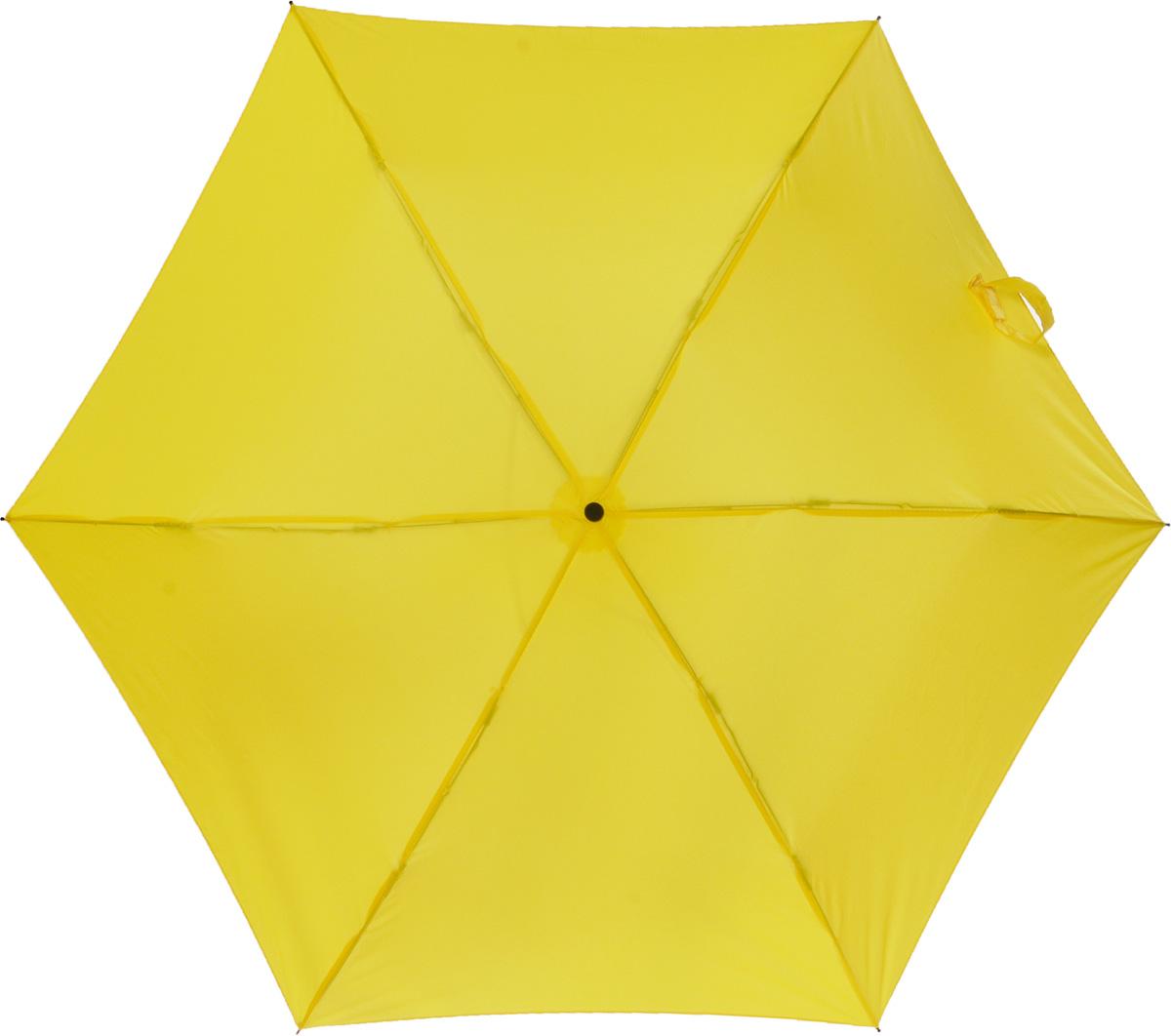 Зонт женский Эврика Банан, механика, 2 сложения, цвет: желтый. 95276Пуссеты (гвоздики)Оригинальный зонт Эврика надежно защитит вас от дождя. Купол выполнен из высококачественного ПВХ, который не пропускает воду.Каркас зонта выполнен из прочного металла. Зонт имеет механический тип сложения: открывается и закрывается вручную до характерного щелчка. Удобная ручка выполнена из пластика.Диаметр купола в раскрытом виде: 90 см.Высота зонта: 52 см.Материал: нейлон, металл, пластик.Bec: 0,325 кг.