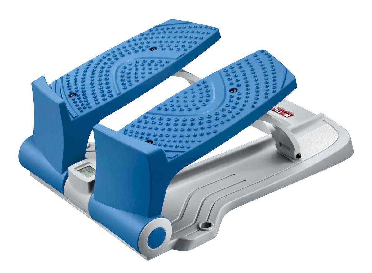Степпер Sport Elit BS-803 BLA-B EZRivaCase 8460 blackCтеппер Body Sculpture BS-803BLA-B очень компактный тренажер, предназначенный для использования в домашних условиях с максимальны весом пользователя 100 кг. Его небольшие размеры и отличная функциональность позволяют использовать этот тренажер для тренировки всех основных групп мышц: ног, бедер, пресса, рук, спины. Встроенный компьютер считывает и сообщает пользователю все основные параметры тренировки, что позволяет планировать тренировки и при необходимости вносить коррективы.Тренировки с использованием EZ степпера очень продуктивны и довольно интересны: активные динамичные движения не заставят скучать и сделают тренировки приятным времяпрепровождением. Его конструкциятщательно продумана и сконструирована таким образом, чтобы сделать тренировку эффективной и избавить пользователя от всех возможных неудобств: широкие педали с нескользящей поверхностью, прочный и долговечный механизм сделают каждую тренировку эффективной и комфортной.На этом министеппере можно выполнять следующие упражнения в сочетании друг с другом:- свободный шаг; - подскок; - растяжка.Показания монитора - время тренировки, число шагов, шагов/мин, потраченные калории.Вес тренажера: 4,4 кг.Габариты тренажера: 53 х 39 х 21 см.