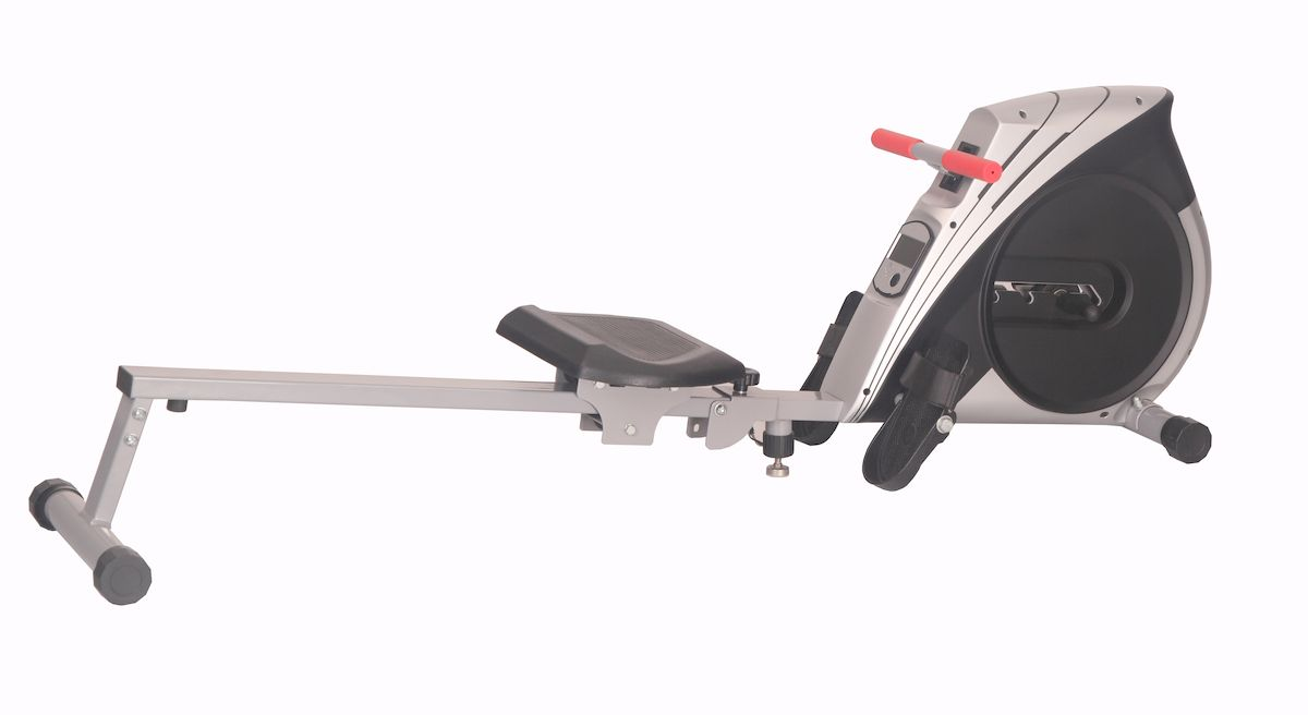 Гребной тренажер Sport Elit SE-104SE-104Гребной тренажер Sport ElitSE-104 обеспечивает естественные и плавные движения как во время гребли на легендарных римских галерах, используя для создания нагрузки лопастное сопротивление воздуха. 4-[ ступенчатая магнитная система изменения уровня нагрузки . Компьютер показывает : время тренировки, кол-во гребков, потраченные калории, подсчет количества раз в минуту, скан.Такой тренажер удачно сочетает в себе два типа спортивных снаряда:Первый - это кардиотренажер для развития сердца, выносливости и похудения, Второй это силовой тренажер для развития мускулатуры и построения фигуры (такого типа гребные тренажеры дают нагрузку практически на все группы мышц).Не смотря на то, что Гребной тренажер Sport ElitSE-104 не займет много места в доме, после тренировки тренажер можно легко и быстро сложить. Прочная стальная конструкция позволяет заниматься на тренажере пользователям с массой тела до 120 кг. Большое удобное сидение легко и бесшумно скользит по алюминиевой шине обеспечивая отличную греблюКрупногабаритные педали с регулируемыми ремнями фиксации ног дают стабильную надежную позицию во время тренировкиCистема нагружения магнитнаяМаксимальный вес пользователя (кг) 120 кгВозможность складывания даТранспортировочные ролики даПитание не требует подключения к сетиГабариты и вес Габариты в собранном виде 174 х 54 х 38смГабариты в упаковке 94х16х60.5Вес тренажера 15 кгКомпьютер Дисплей черно-белый ЖККоличество программ программы отсутствуютИзмерение пульса нетВремя тренировки даКоличество гребков даКоличество гребков в минуту даРасход калорий даПреодоленная дистанция даСкорость даСуммарная дистанция за предыдущие тренировки да