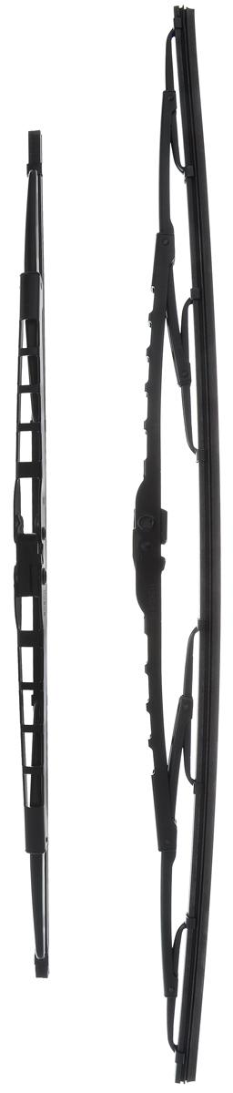 Щетка стеклоочистителя Bosch 576, каркасная, длина 57,5/45 см, 2 штS03301004Комплект Bosch 576 состоит из двух щеток разной длины, выполненных по современной технологии из высококачественных материалов. Они обеспечивает идеальную очистку стекла в любую погоду.TWIN - серия классических каркасных щеток от компании Bosch. Эти щетки имеют полностью металлический каркас с двойной защитой от коррозии и сверхточный профиль резинового элемента с двумя чистящими кромками.Комплектация: 2 шт.