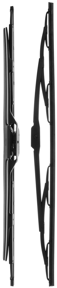 Щетка стеклоочистителя Bosch 602S, каркасная, со спойлером, длина 60 см, 2 шт98520745Щетка Bosch 602S, выполненная по современной технологии из высококачественных материалов, оптимально подходит для замены оригинальных щеток, установленных на конвейере. Обеспечивает идеальную очистку стекла в любую погоду.TWIN Spoiler - серия классических каркасных щеток со спойлером. Эти щетки имеют полностью металлический каркас с двойной защитой от коррозии и сверхточный профиль резинового элемента с двумя чистящими кромками. Спойлер, выполненный в виде крыла, закрывает каркас щетки от воздушного потока.Комплектация: 2 шт.