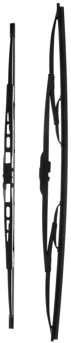 Щетка стеклоочистителя Bosch 551, каркасная, длина 50/55 см, 2 шт790009Комплект Bosch 551 состоит из двух щеток разной длины, выполненных по современной технологии из высококачественных материалов. Они обеспечивает идеальную очистку стекла в любую погоду.TWIN - серия классических каркасных щеток от компании Bosch. Эти щетки имеют полностью металлический каркас с двойной защитой от коррозии и сверхточный профиль резинового элемента с двумя чистящими кромками.Комплектация: 2 шт.Длина щеток: 50 см; 55 см.