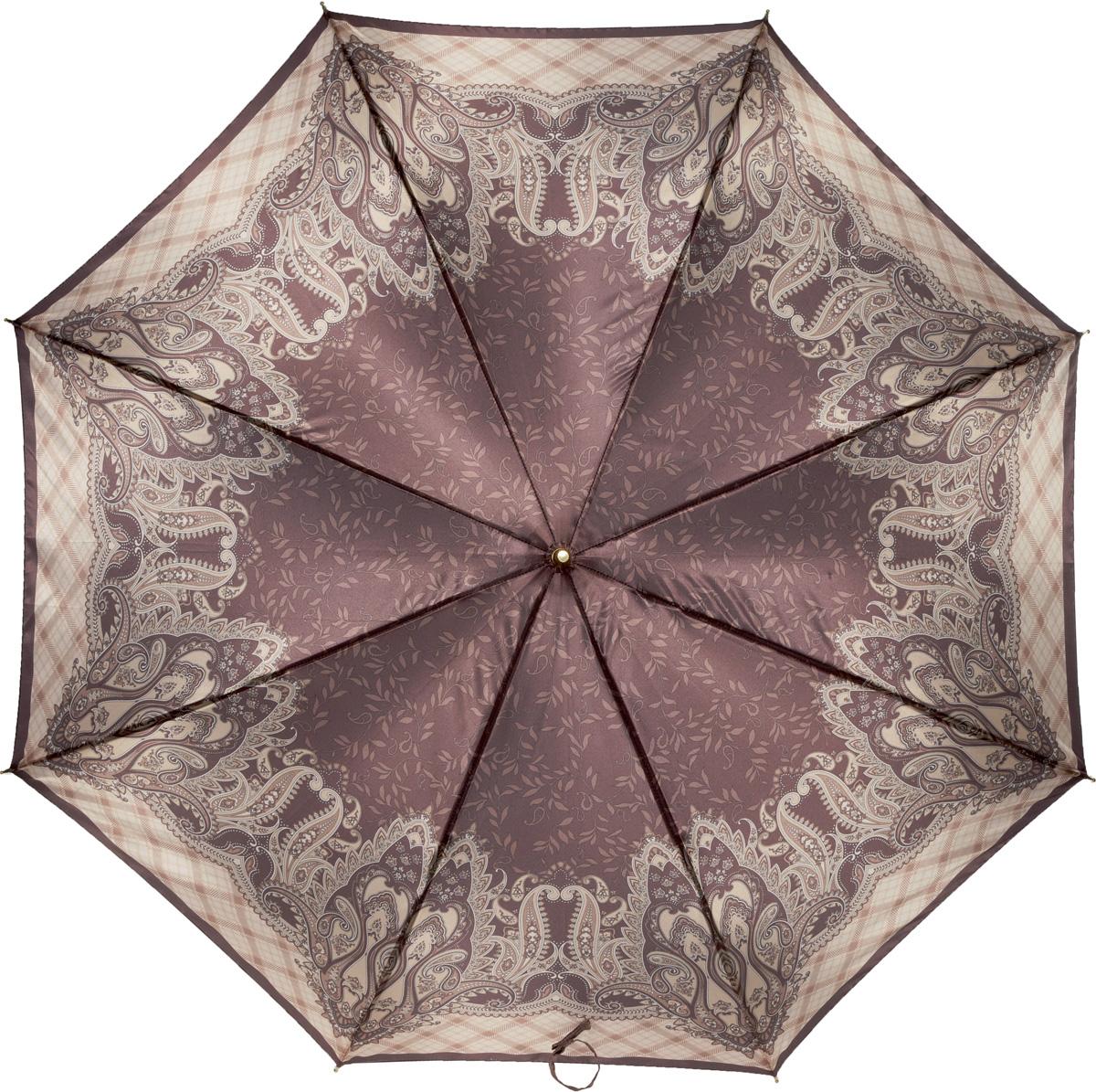 Зонт-трость женский Fabretti, механика, цвет: мультиколор. 1609REM12-GREYЖенский зонт-трость от итальянского бренда Fabretti. Конструкция модели - механика. Эксклюзивный дизайнерский принт зонта сделает вас неотразимыми в любую непогоду. Материал купола - полиэстер. Он невероятно изящен, приятен на ощупь, обладает высокой прочностью, а также устойчив к выцветанию. Эргономичная ручка сделана из высококачественного пластика.