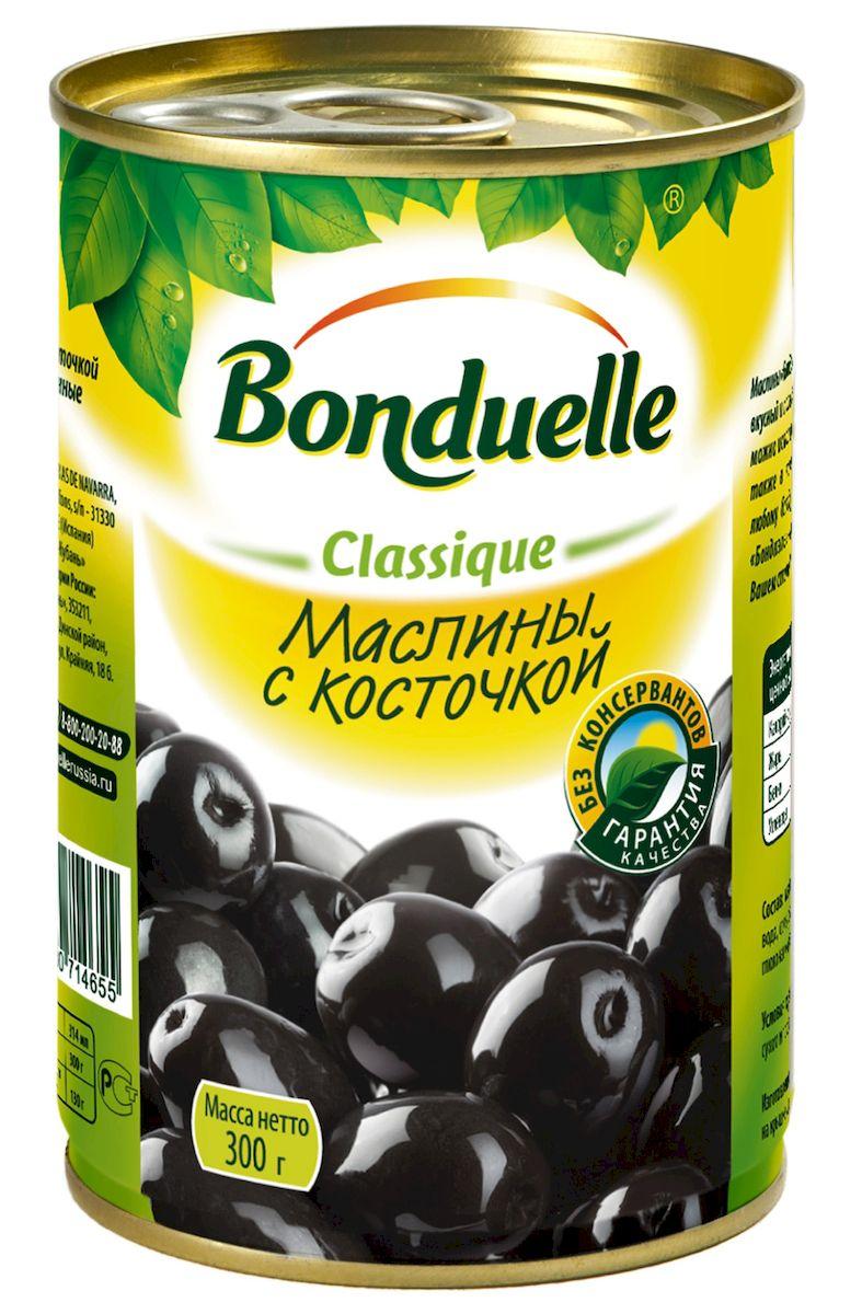 Bonduelle маслины с косточками, 300 г0120710Маленькое солнечное испанское счастье - так можно описать вкус маслин Bonduelle. Это делает их незаменимым дополнением к сырам, вину, а также самостоятельным стартером или закуской. В банку, где вы никогда не найдете лишней воды, попадают только тщательно отобранные по размеру, зрелые плоды со сбалансированным вкусом.