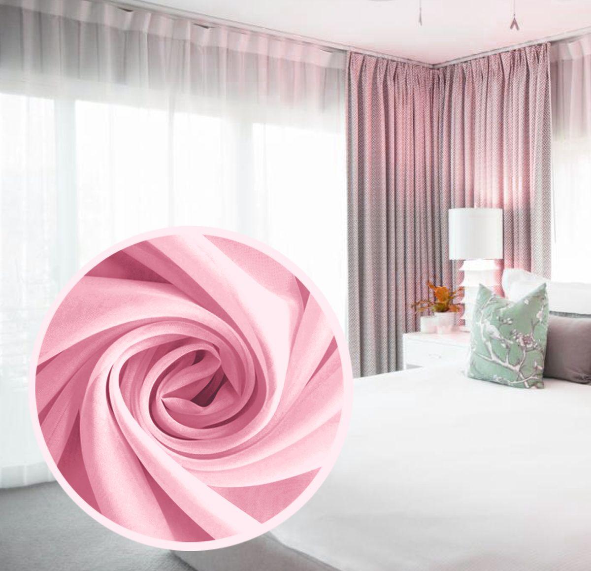 Вуаль Amore Mio Однотонная, 300 х 270 см, 1 шт, цвет: розовый. 77557SVC-300Amore Mio - однотонная легкая вуаль нежного цвета в классическом однотонном исполнении. выполнена из полиэстера.Вуаль незаменимая деталь в оформлении окон спальни и гостинной. Она отлично сочетается практически с любыми портьерами. Изделие на шторной ленте, готово к использованию. Размер: 300 х 270 см.