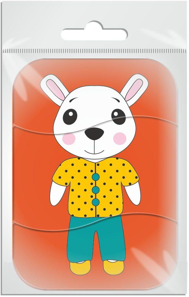 Издательская группа Квадра Магнитный пазл для малышей Белая мышь