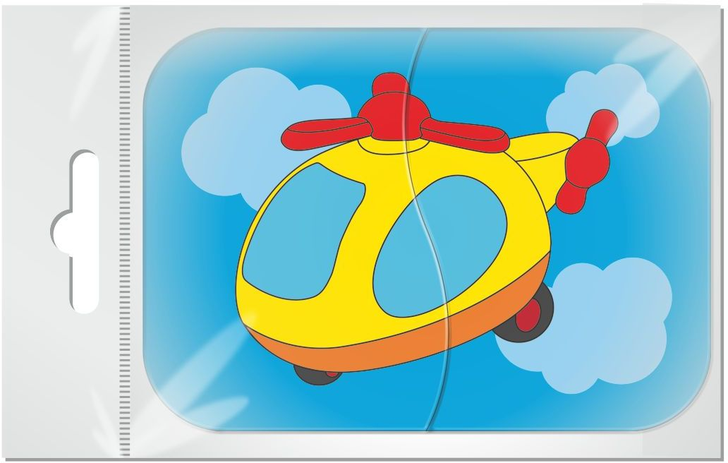 Издательская группа Квадра Магнитный пазл для малышей Вертолет 2 элемента издательская группа квадра пазл для малышей осьминог