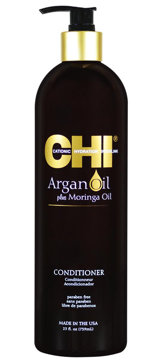 CHI Кондиционер Argan Oil, 355млFS-00897Кондиционер CHI Argan Oil омолаживает сухие и поврежденные волосы, насыщая их влагой, витаминами и питательными маслами, предотвращая их спутывание и восстанавливая блеск. Волосы становятся гладкими и мягкими. Кондиционер CHI Argan Oil повышает прочность и эластичность волос, помогая защитить от повреждения и от негативного воздействия УФ-лучей.