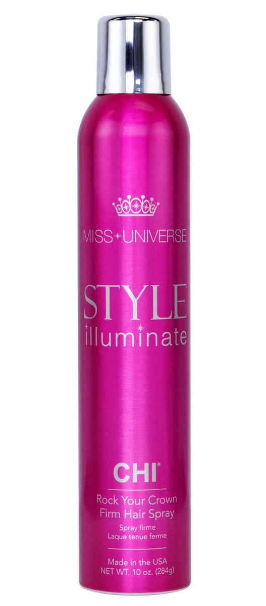 CHI Лак для волос сильной фиксации Miss Universe 284гCHIIGP08Лак для волос CHI Мисс Вселенная сильной фиксации – лак созданный для полного контроля укладки. Быстросохнущая невесомая формула позволяет сохранять Вашу укладку целый день. Без утяжеления волос!