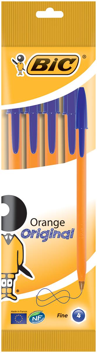 Bic Набор шариковых ручек Orange цвет чернил синий 4 шт72523WDНабор шариковых ручек Bic Orange станет незаменимым атрибутом в учебе любого школьника и на работе. В наборе 4 шариковые ручки с колпачками, цвет чернил - синий. Ручка Orange, пожалуй, самая востребованная ручка в мире. Тонкая линия письма, яркий корпус и пишущий узел с уменьшенным шариком обеспечивают неповторимый комфорт письма.