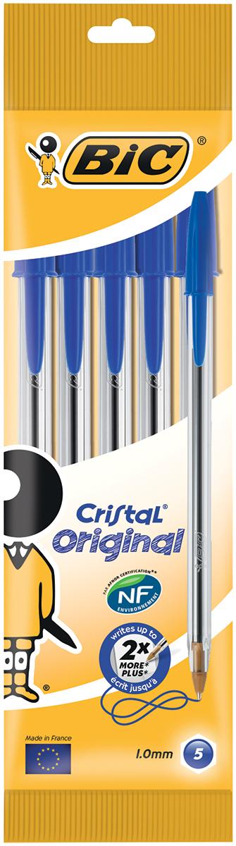 Bic Набор шариковых ручек Cristal цвет чернил синий 4 шт730396Набор шариковых ручек Bic Cristal станет незаменимым атрибутом в учебе любого школьника и на работе. В наборе 4 шариковые ручки с колпачками, цвет чернил - синий. Эта ручка служит минимум вдвое дольше, чем любая другая аналогичная ручка. Толщина ее корпуса является идеальной для средней человеческой руки.