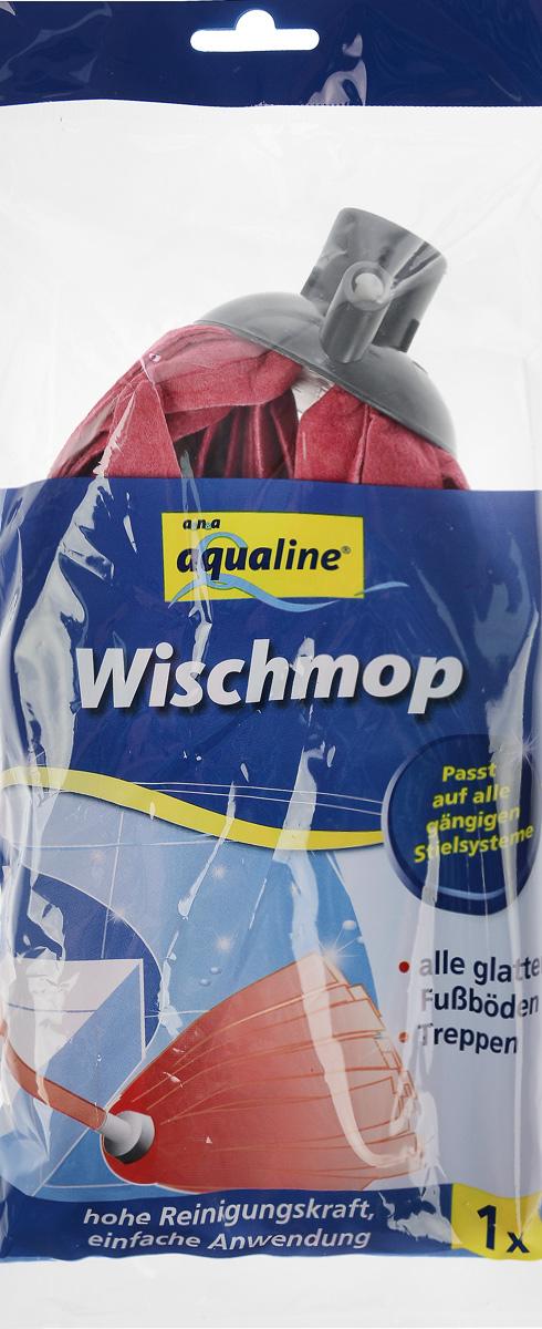 Насадка для швабры Aqualine, сменная, цвет: красныйVCA-00Сменная лепестковая насадка Aqualine предназначена для уборки всех видов полов. Специальная структура микроактивного волокна убирает даже сильные, затвердевшие загрязнения, не оставляя разводов, влага впитывается полностью. Длина насадки: 25 см.