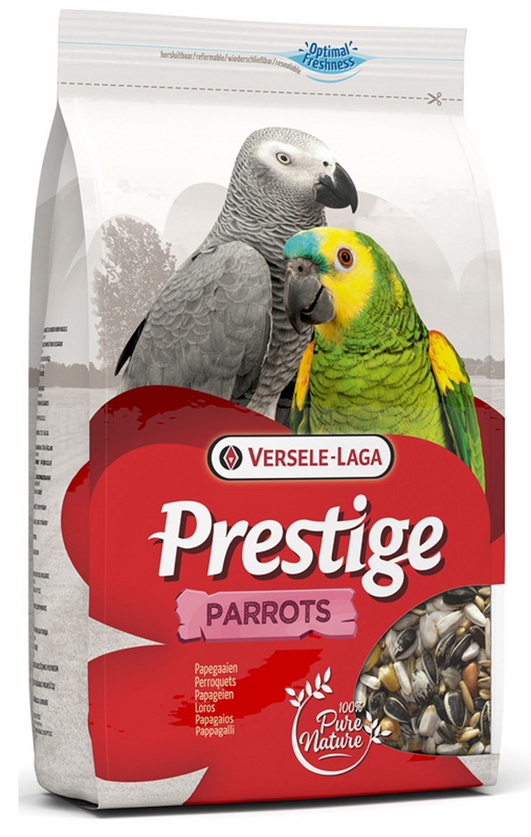 Корм для крупных попугаев Versele-Laga Prestige Parrots, 3 кг0120710Идеальный корм для крупных пород попугаев. Содержит большое количество зерен различных растений, дополнительно обогащен комплексом витаминов, микроэлементов и минералов, которые необходимы крупным попугаям для полноценной жизни. Прекрасно подойдет для ежедневного употребления. Вес упаковки: 3 кг. Состав: Семена подсолнечника полосатого 25%, Белые семена подсолнечника 20%, Кукуруза Плата 7%, Пшеница 6%, Остроконечный овес 5%, Сафлор 5%, Гречиха 5%, Очищенный арахис 5%, Цельный арахис 4%, Рис-сырец 4%, Сорго 3%, Семена конопли 3%, Очищенный овес 3%, Воздушная кукуруза 2%, Орехи сосны 2%, Семена тыквы очищенные 1%.