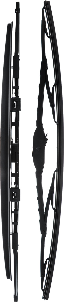 Щетка стеклоочистителя Bosch 583S, каркасная, со спойлером, длина 53 см, 2 штS03301004Щетка Bosch 583S, выполненная по современной технологии из высококачественных материалов, оптимально подходит для замены оригинальных щеток, установленных на конвейере. Обеспечивает идеальную очистку стекла в любую погоду.TWIN Spoiler - серия классических каркасных щеток со спойлером. Эти щетки имеют полностью металлический каркас с двойной защитой от коррозии и сверхточный профиль резинового элемента с двумя чистящими кромками. Спойлер, выполненный в виде крыла, закрывает каркас щетки от воздушного потока.Комплектация: 2 шт.