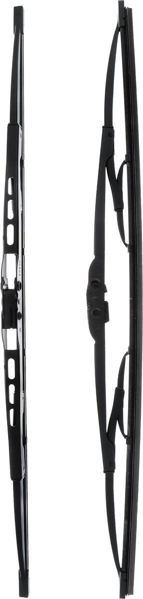 Щетка стеклоочистителя Bosch 500, каркасная, длина 50 см, 2 штS03301004Щетка Bosch 500, выполненная по современной технологии из высококачественных материалов, оптимально подходит для замены оригинальных щеток, установленных на конвейере. Обеспечивает идеальную очистку стекла в любую погоду.TWIN - серия классических каркасных щеток от компании Bosch. Эти щетки имеют полностью металличеcкий каркас с двойной защитой от коррозии и сверхточный профиль резинового элемента с двумя чистящими кромками.Комплектация: 2 шт.
