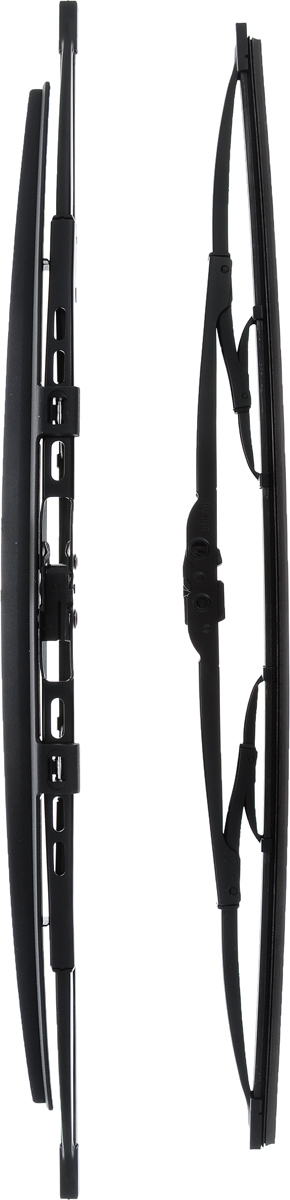 Щетка стеклоочистителя Bosch 532S, каркасная, со спойлером, длина 50/53 см, 2 шт112825Комплект Bosch 532S состоит из двух щеток разной длины, выполненных по современной технологии из высококачественных материалов. Они обеспечивает идеальную очистку стекла в любую погоду.TWIN Spoiler - серия классических каркасных щеток со спойлером от компании Bosch. Эти щетки имеют полностью металлический каркас с двойной защитой от коррозии и сверхточный профиль резинового элемента с двумя чистящими кромками. Спойлер выполнен в виде крыла, который закрывает каркас щетки от воздушного потока.Комплектация: 2 шт.Длина щеток: 50 см; 53 см.