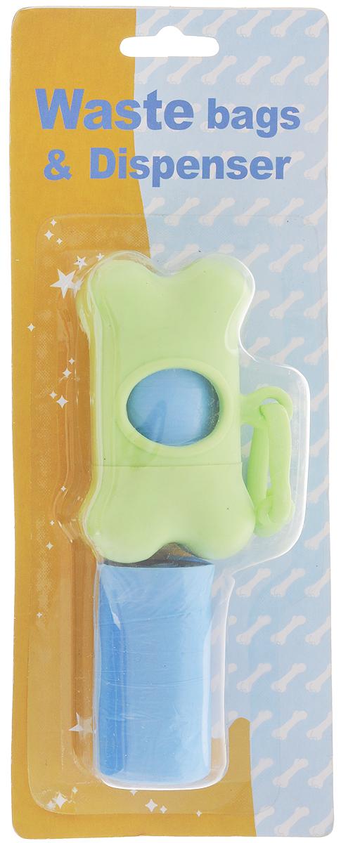 Гигиенические пакеты Каскад, с футляром, сменные, цвет: салатовый9312212_салатовыйГигиенические пакеты Каскад в футляре отлично подойдут для использования во время прогулок с собакой. Футляр, изготовленный из пластика в форме косточки, крепится к ручке поводка. Пакеты легко отрываются и позволяют убрать за собакой в любом месте. В комплекте предусмотрены сменные пакеты. Размер футляра: 5 х 8,5 х 4 см.
