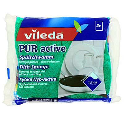 Губка для посуды Pur Active, 2 шт10503Набор из двух губок Pur Active особенно подойдет для очистки чувствительных поверхностей. Специальный слой губок бережно удаляет загрязнения, не повреждая антипригарное покрытие и чувствительные поверхности. Губки идеально подходят для мытья высококачественных изделий из стекла, стеклокерамики, фарфора, стали, латуни, хрома и тефлона. В отличие от традиционных средств губки Pur Active не соскабливает грязь, а разрушают ее и надежно удаляют, не оставляя царапин. Характеристики: Материал:полиуретан. Размер: 11 см х 6,5 см х 2,5 см. Количество: 2 шт. Изготовитель: Германия. Артикул: 04407.Vileda - лидер в производстве профессионального уборочного инвентаря и расходных материалов. Работая на рынке профессионального уборочного инвентаря, Vileda представляет не просто профессиональный уборочный инвентарь, а комплексное решение по уборке.Уважаемые клиенты!Обращаем ваше внимание на возможные изменения в дизайне упаковки. Качественные характеристики товара остаются неизменными. Поставка осуществляется в зависимости от наличия на складе.
