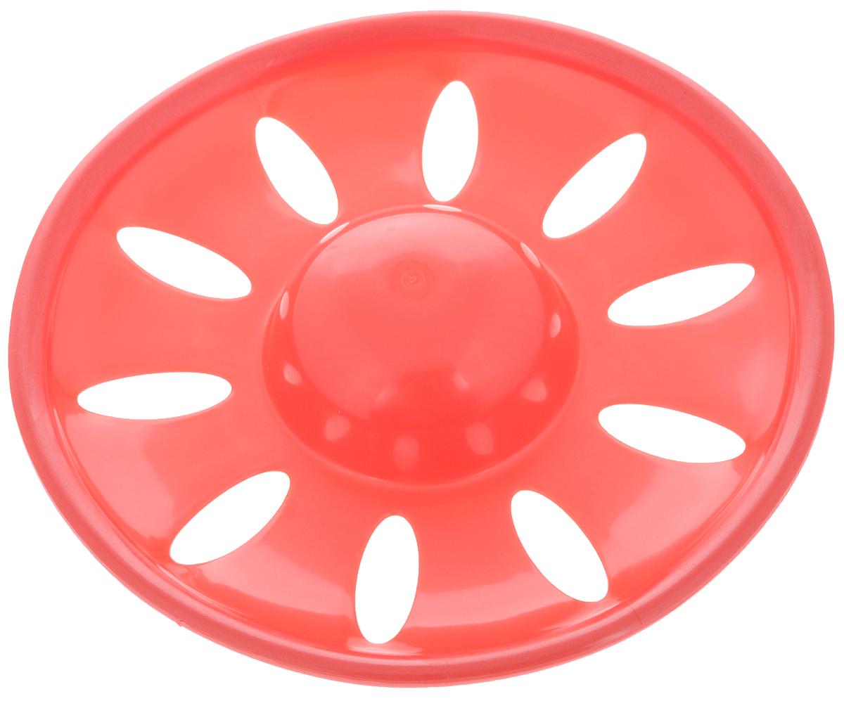 Игрушка для собак Каскад Летающая тарелка, цвет: красный, диаметр 23 см. 2779930427754642Игрушка для собак Каскад Летающая тарелка, выполненная из прочного пластика с перфорацией, отличается легкостью и компактностью. Оригинальный дизайн, прочная конструкция и нетоксичный материал позволят вам наслаждаться игрой в фрисби с вашей собакой. Кроме того, игрушка устойчива к разгрызанию. Собаки просто обожают играть с фрисби. Регулярные игры на открытом воздухе позволят вашей собаке стать сильнее и развиться физически. А вы получите удовольствие и радость от игры с вашим питомцем.