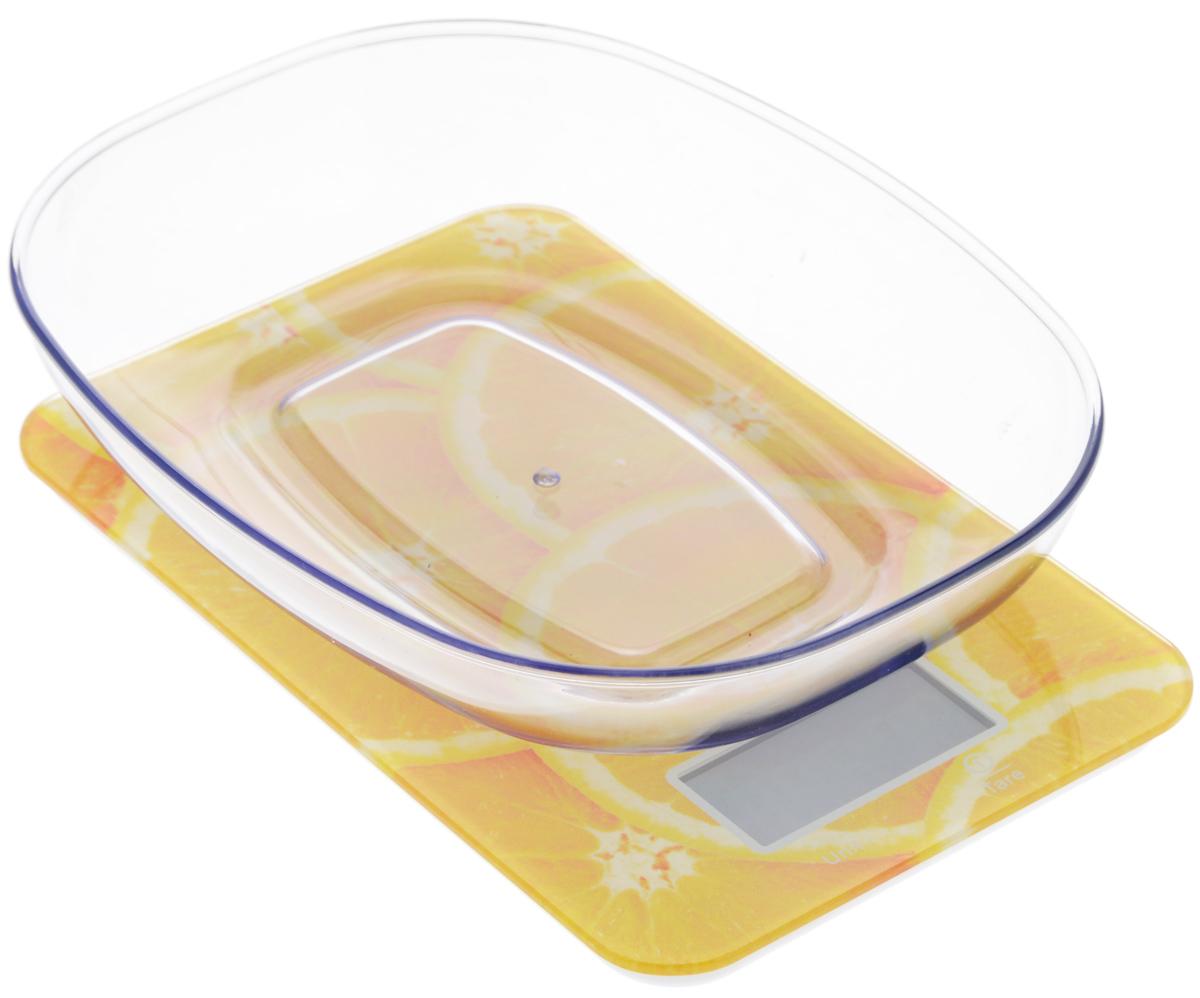 Весы кухонные Mayer & Bosh, с чашей, цвет: оранжевый, белый, до 5 кг. 109594630003364395Кухонные весы Mayer & Boch изготовлены из высококачественного пластика. Изделие оснащено стеклянной панелью и съемной чашей. Весы имеют цифровой LCD-дисплей с функцией автоматического отключения и тарокомпенсации, а также мощный процессор и тензометрический датчик высокой прочности. Кухонные весы Mayer & Boch пригодятся на любой кухне и станут прекрасным дополнением к набору вашей мелкой бытовой техники. Используя их, вы сможете готовить блюда, точно следуя предложенной рецептуре, что немаловажно при приготовлении сложных блюд, соусов и выпечки.Оригинальные, с ярким дизайном, такие весы украсят любую кухню и принесут радость каждой хозяйке. Нагрузка: 2 г - 5000 г.Размер весов: 21,5 х 14 х 1,5 см. Размер чаши: 22 х 17 х 4,5 см. Питание: 2 х ААА (входят в комплект).