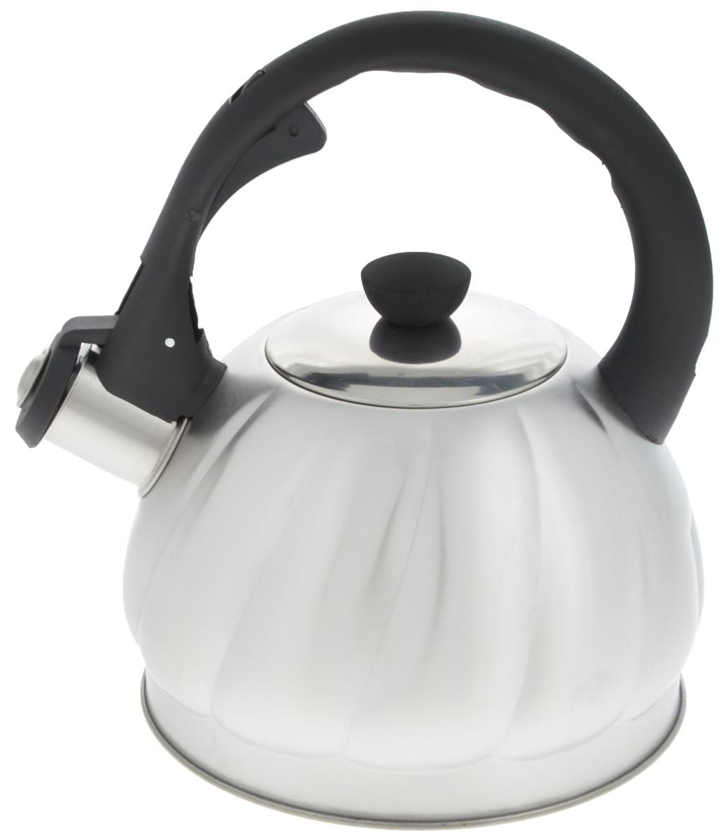 Чайник Mayer & Boch, со свистком, 2 л. 2589654 009303Чайник со свистком Mayer & Boch изготовлен из высококачественной нержавеющей стали, что обеспечивает долговечность использования. Носик чайника оснащен откидным свистком, звуковой сигнал которого подскажет, когда закипит вода. Свисток открывается нажатием кнопки на фиксированной ручке, сделанной из пластика. Чайник Mayer & Boch - качественное исполнение и стильное решение для вашей кухни. Подходит для всех типов плит, включая индукционные. Можно мыть в посудомоечной машине. Высота чайника (с учетом ручки и крышки): 22,5 см.Высота чайника (без учета ручки и крышки): 12 см.Диаметр чайника (по верхнему краю): 9 см.Диаметр основания: 16,5 см.