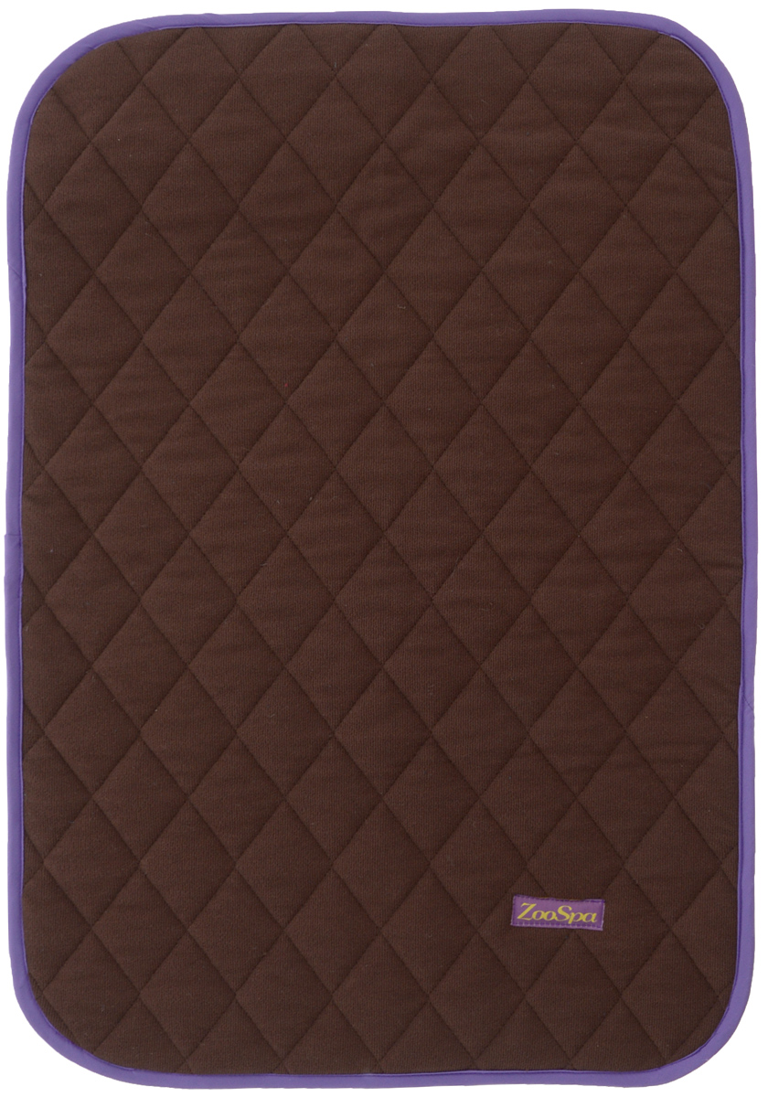 Пеленка впитывающая для животных ZooSpa, многоразовая, 5-ти слойная, цвет: коричневый, 40 x 60 см0120710Пеленка ZooSpa используется как комфортная впитывающая подстилка в туалетных лотках, в переносках, в автомобиле или дома. Быстро поглощает жидкость в значительных объемах. Изделие выполнено из ткани ABSO (многослойная абсорбирующая ткань с полиуретановой мембраной) и 100% полиэстера. Пеленка состоит из пяти слоев, которые обеспечивают абсолютную защиту от протекания, быстро высыхает и не скользит. Лапки вашего питомца всегда будут сухие. Многоразовую пеленку можно стирать до 300 раз без потери функциональных свойств. Такая пеленка не загрязняют окружающую среду и экономит ваши деньги. Не содержит наполнителей, не выделяет опасных химических веществ, очень прочная ткань, которую сложно прогрызть или разорвать.