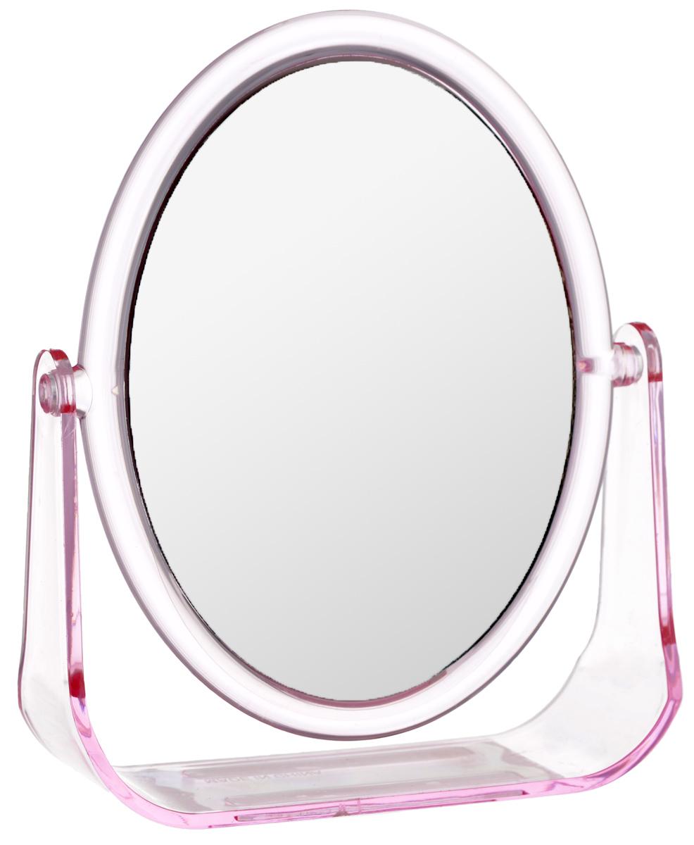 Зеркало косметическое Top Star, настольное, цвет: розовый, 15 х 12 смRT1401Настольное косметическое зеркало Top Star идеально подходит для нанесения макияжа и совершения различных косметических процедур. Двухстороннее зеркало с регулируемым углом наклона позволит вам установить его так, как это удобно вам, а двукратное увеличение одной из зеркальных линз поможет разглядеть даже малейшие нюансы и устранить все недостатки кожи. Яркий и стильный дизайн делает зеркало отличным подарком родным и близким, оно будет прекрасно смотреться в любом интерьере.