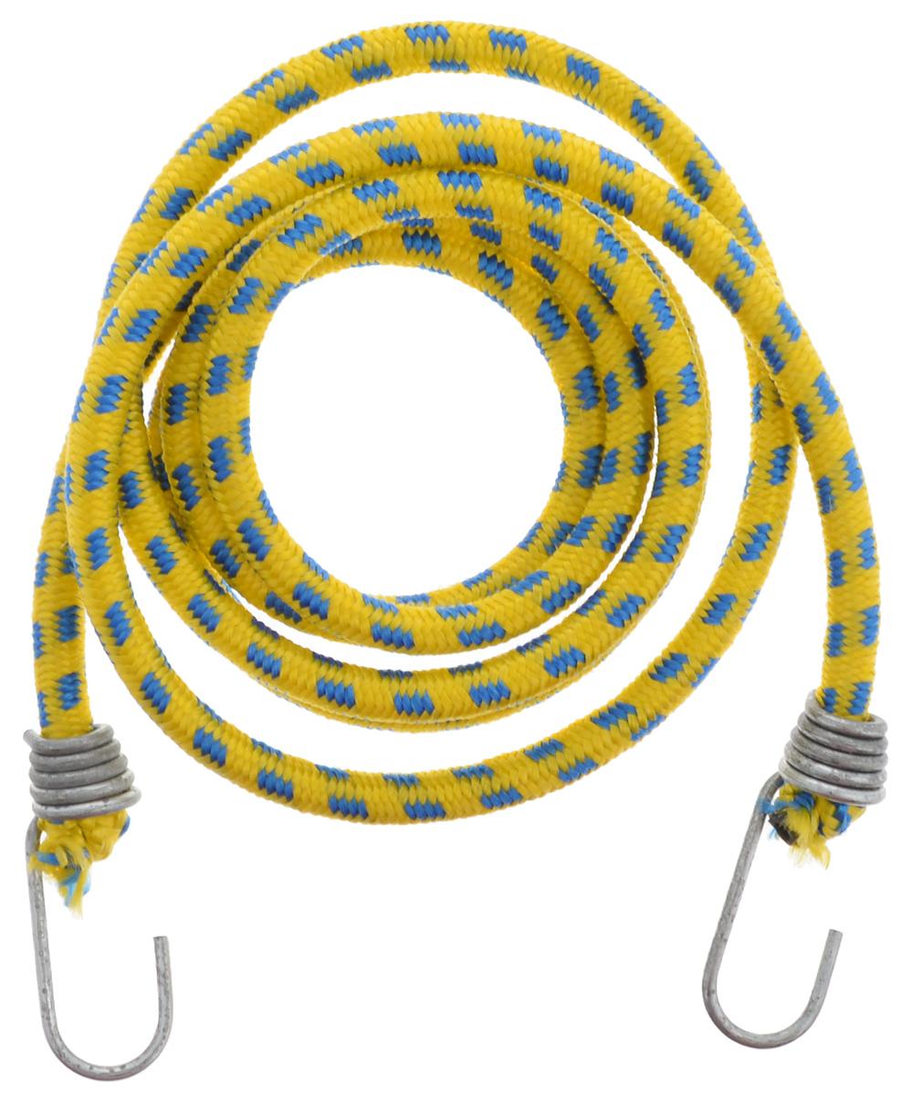Резинка багажная МастерПроф, с крючками, цвет: желтый, синий, 1 х 190 смYH2145NБагажная резинка МастерПроф, выполненная из натурального каучука, оснащена специальными металлическими крючками, которые обеспечивают прочное крепление и не допускают смещения груза во время его перевозки. Изделие применяется для закрепления предметов к багажнику. Такая резинка позволит зафиксировать как небольшой груз, так и довольно габаритный.Температура использования: -15°C до +50°C.Безопасное удлинение: 60%.Диаметр резинки: 1 см.Длина резинки: 190 см.