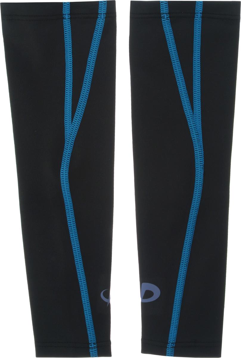 Рукав силовой Phiten X30, цвет: черный, синий, 2 шт. Размер L (26-32 см)SF 0085Силовой рукав Phiten X30, выполненный из 85% полиэстера и 15% полиуретана, идеально подходит для поддержки и увеличения силы мышц (плеча/предплечья) спортсменов. Рукав снимает мышечное напряжение, повышает выносливость и силу мышц. Он мягко фиксирует суставы, но при этом абсолютно не стесняет движения.Благодаря пропитке из акватитана с фактором X30, рукав увеличивает эластичность мышц и связок, а также хорошо поглощает и испаряет пот, что позволяет продлить ощущение комфорта при тренировках.Изделие специально разработано таким образом, чтобы соответствовать форме руки и обеспечить плотное прилегание, а благодаря инновационным материалам, рукав действительно поможет вам в процессе тяжелой тренировки или любой серьезной нагрузки.Силовой рукав Phiten X30 способствует:- улучшению циркуляции крови в организме;- разгрузке поврежденного сустава; - уменьшению усталости;- снятию излишнего напряжения и скорейшему восстановлению сил;- обеспечивает компрессионный эффект.Обхват предплечья: 26-32 см. Длина рукава: 32 см. Комплектация: 2 шт.