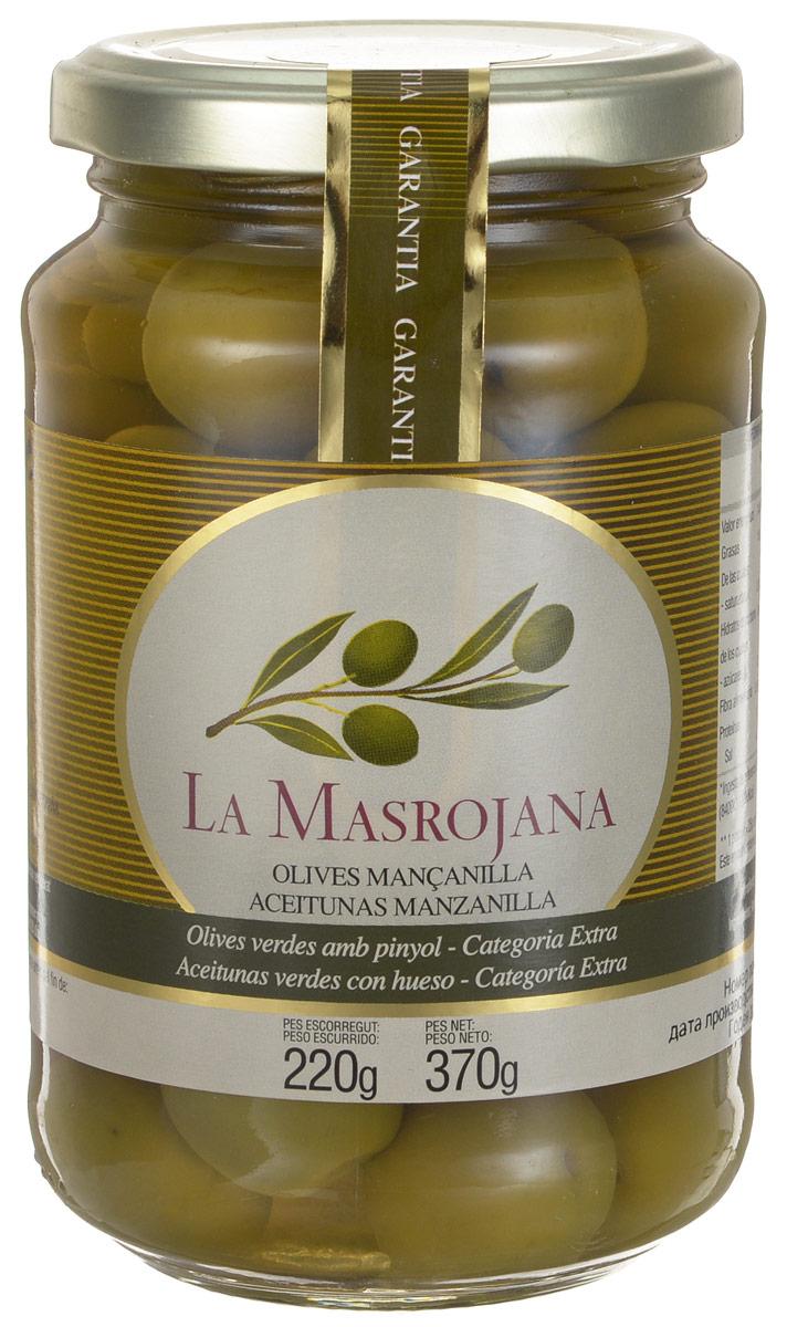 La Masrojana оливки зеленые сорта Манзанийя с косточкой, 220 г0120710Зеленые оливки La Masrojana сорта Мансанилья с косточкой без искусственных добавок: красителей, консервантов и усилителей вкуса! Один из самых популярных столовых сортов оливок. Плоды обладают особым, насыщенным вкусом и плотной структурой. Этот вид можно использовать в салатах, как аперитив, с вермутом, когда в него добавляют немного льда и одну оливку, также в закусках и других блюдах.
