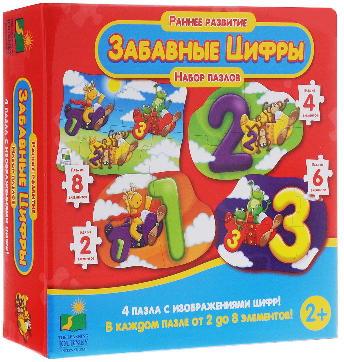 Learning Journey Пазл для малышей Забавные цифры 4 в 1 learning journey гигантская пожарная машина 30 элементов двухсторонний 699546