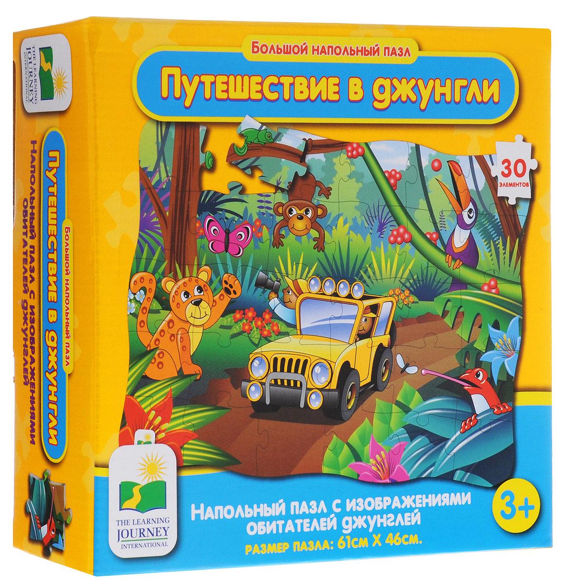 Learning Journey Пазл для малышей Путешествие в джунгли learning journey learning journey пазл кукольный дом 24 многоразовые наклейки 50 элементов