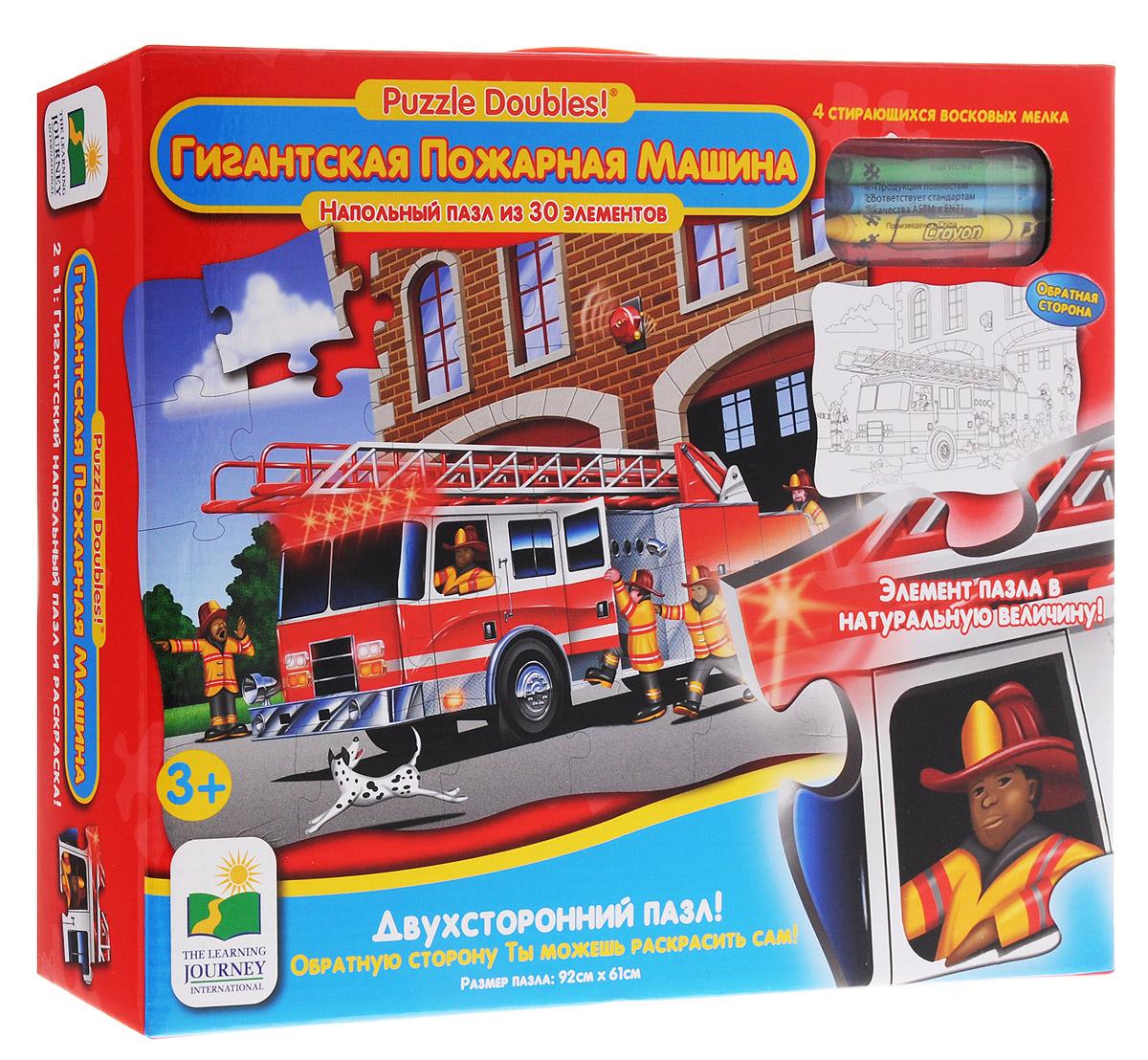 Learning Journey Пазл для малышей Гигантская пожарная машина learning journey гигантская пожарная машина 30 элементов двухсторонний 699546