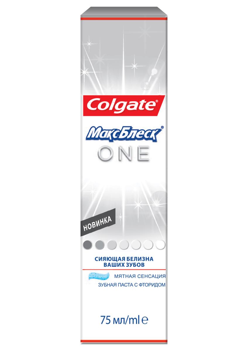 Зубная паста Colgate МаксБлеск. One, отбеливающая, 75 мл5010777139655Зубная паста Colgate МаксБлеск. One с микрокристаллами активаторами белизны, содержит компоненты, подобные тем, что используют стоматологи при отбеливании зубов. Зубы белее на 1 тон за 1 неделю. Характеристики:Объем: 75 мл. Производитель: Китай. Товар сертифицирован.