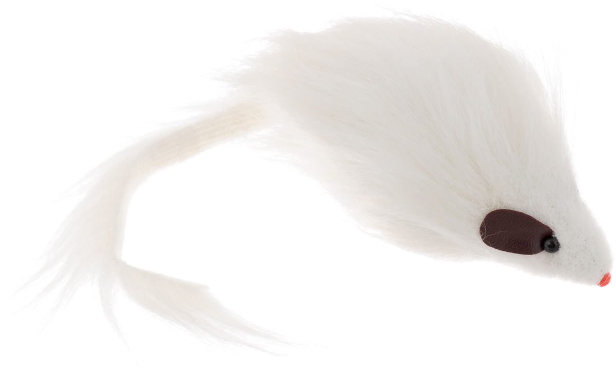 Игрушка для кошек Каскад Мышь, с длинным мехом, цвет: белый, длина 12,5 см27799317Игрушка для кошек Каскад Мышь не позволит заскучать вашему пушистому питомцу. Играя с этой забавной игрушкой, маленькие котята развиваются физически, а взрослые кошки и коты поддерживают свой мышечный тонус. Игрушка выполнена в виде мышки с длинным мехом, черными глазками-бусинками и длинным хвостом.Такая игрушка порадует вашего любимца, а вам доставит массу приятных эмоций, ведь наблюдать за игрой всегда интересно и приятно. Длина игрушки: 12,5 см.