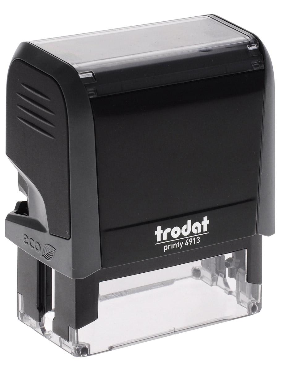 Trodat Оснастка для штампа 58 х 22 мм48313Оснастка для штампа Trodat будет незаменима в отделе кадров или в бухгалтерии любой компании. Прочный пластиковый корпус с автоматическим окрашиванием гарантирует долговечное бесперебойное использование. Модель отличается высочайшим удобством в использовании и оптимально ложится в руку. Оттиск проставляется практически бесшумно, легким нажатием руки. Улучшенная конструкция и видимая площадь печати гарантируют качество и точность оттиска. Текстовые пластины прямоугольной формы 58 х 22 мм подойдут для изготовления клише по индивидуальному заказу. Модель оснащена кнопкой блокировки.Оснастка для штампа Trodat идеальна для ежедневного использования в офисе.