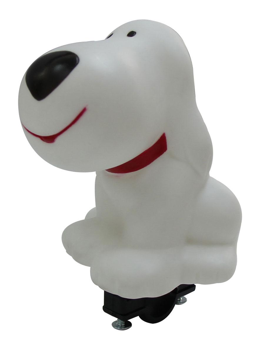 Звонок пищалка Bike Attitude Собачка, цвет: белыйГризлиЗвонок пищалка Собачка для детских велосипедов. Универсальный крепеж на руль диаметром 22.2мм.