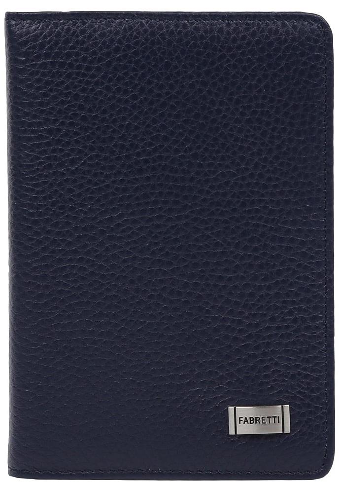 Обложка для документов женская Fabretti, цвет: темно-синий. 52502-1-d.blue639534-014Лаконичная и стильная женская обложка для документов от итальянского бренда Fabretti выполнена из натуральной кожи, которая имеет невероятно мягкую и приятную фактуру. Внутри аксессуара расположены 5 отделений для дисконтных и кредитных карт, а также удобный вкладыш для документов. Фурнитура под серебро дополняют классический и строгий дизайн модели.