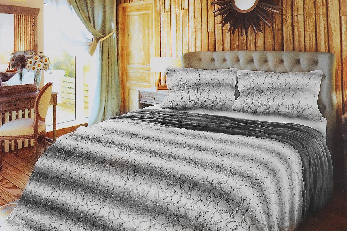 Комплект для спальни Унисон Morris: покрывало 220х240 см, наволочки 50х70 см, цвет: белый, светло-серый1004900000360Комплект для спальни Унисон Morris состоит из пледа и двух наволочек, выполненных из полиэстера. Изделия оформлены красивым рельефом в полоску. Комплект для спальни Унисон Morris - отличный способ придать спальне уют и привнести в интерьер что-то новое. Комплект упакован в сумку-чехол на застежке-молнии.Размер пледа: 220 х 240 см. Размер наволочки: 50 х 70 см.
