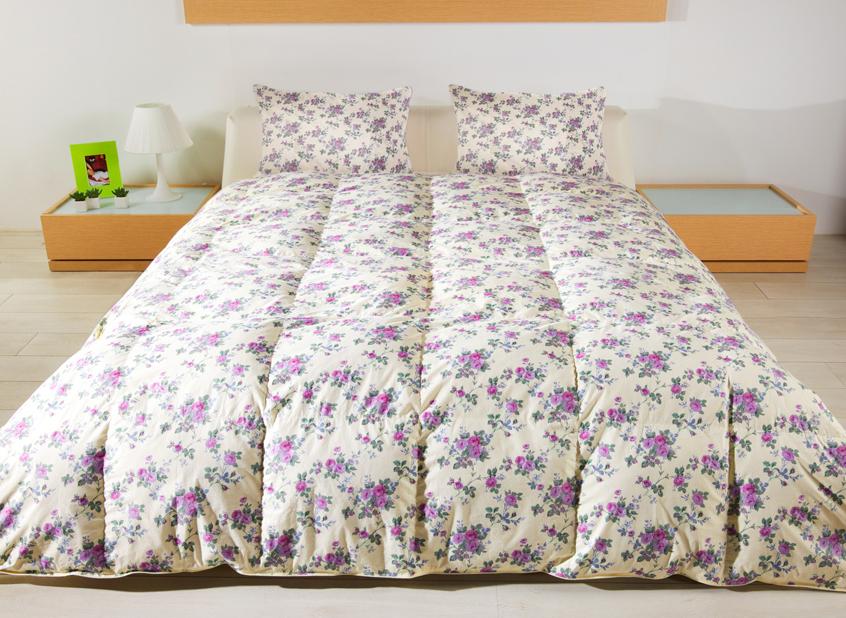 Одеяло Сонюшка 140х205CLP446Одеяло Сонюшка с пухо-перовым наполнителем в чехле из прочного тика давно завоевали популярность у покупателей.