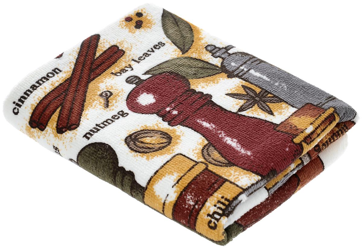 Полотенце кухонное Sunvim Пряности, 40 х 70 см1004900000360Кухонное полотенце Sunvim Пряности, выполненное из 100% хлопка, оформлено ярким рисунком. Изделие предназначено для использования на кухне и в столовой.Такое полотенце станет отличным вариантом для практичной и современной хозяйки.