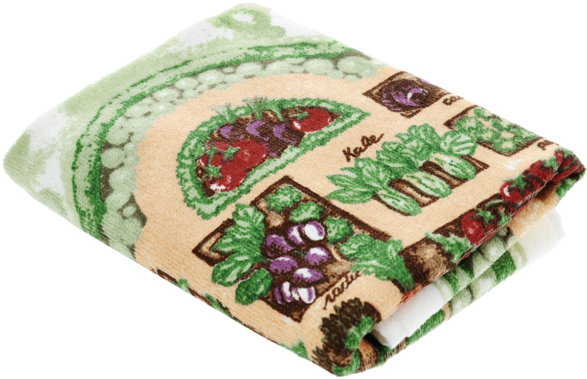 Полотенце кухонное Sunvim Урожай, 40 х 70 см80033Кухонное полотенце Sunvim Урожай, выполненное из 100% хлопка, оформлено ярким рисунком. Изделие предназначено для использования на кухне и в столовой.Такое полотенце станет отличным вариантом для практичной и современной хозяйки.